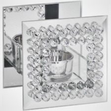 The Leonardo Collection - Diamante Square Mirrored Tealight Holder