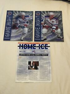 NEW YORK RANGERS MAGAZINES Brian Leetch Mike Richter Hockey (Lot of 3 Items)
