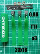 GZK GREEN TTF Slingshot/Catapult 0.80 Hunting Bands x3 With Super Fibre pouches