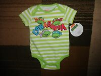 TMNT Teenage Mutant Ninja Turtle Cowabunga Infant Baby Bodysuit Jumpsuit Romper