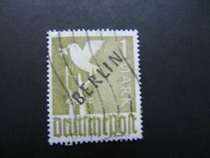 Berlin ( West ) 1948,  Freimarke,  MiNr: 17 gestempelt  Bdr - Aufdruck schwarz