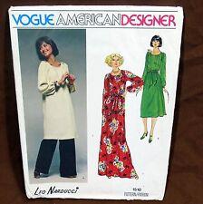 Vtg Vogue Pattern Designer Leo Narducci Sz 10 Uncut FF #1510 Tunic Dress Pants