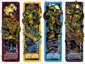 Teenage mutant ninja turtles by Rhys Cooper- set of 4 prints - Sold out Mondo