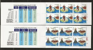 ICELAND Sc 780-781 NH issue of 1994 - 2 BOOKLETS - EUROPA