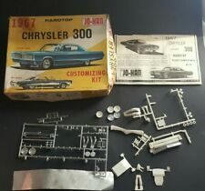 1967 Chrysler 300 HT Model Customizing Kit Parts Incomplete With Box 1/25 Scale