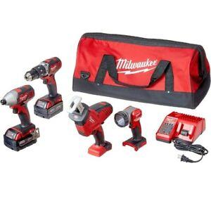 MILWAUKEE'S 2695-24 M18 18V Cordless Power Tool Combo Kit brand new