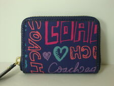 Coach Daisy patch  MD coin zip wallet  F62317