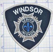 CANADA, WINDSOR FIRE SERVICE INCENDIE PATCH