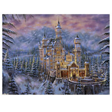 Snow Castle 5D Diamond Painting Embroidery DIY Paint-By-Number Kit Home Wal D7U7