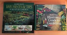 2 Readers Digest Gardening Books 1001 HINTS & TIPS '96 & ILLUSTRATED GUIDE '78