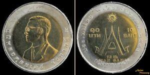 1998 THAILAND 10 BAHT 13th ASIAN GAMES BI-METALLIC Y#348 COIN UNC (#7)