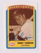 1990 Swell Baseball Greats Bobby Thomson New York Giants Autographed Card