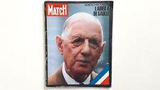 L'ADIEU A DE GAULLE PARIS MATCH NUMERO HISTORIQUE 1124 + PARIS POSTER GUIDE