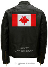 LARGE CANADA FLAG PATCH embroidered CANADIAN iron-on MAPLE LEAF EMBLEM new
