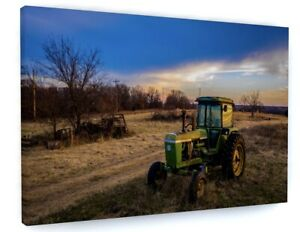 Farm Tractor Canvas Picture Print Wall Art C625