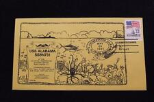 DRW NAVAL COVER #67 COMMISSIONING USS ALABAMA (SSBN-731) 1985 FANCY CANCEL