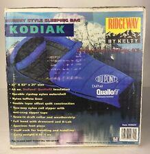 Vintage Ridgeway By Kelty Mummy Style Sleeping Bag Kodiak DuPont Quallofil NOS