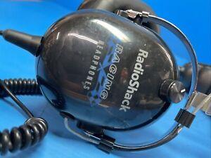 Radio Shack 33-1198 Racing Scanner Headphones Noise Blocking 3.5mm Male NASCAR