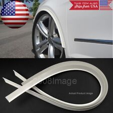 "1 Pair 47"" White Arch Wide Body Fender Flares Extension Lip For Mazda Subaru"