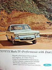 FORD ZEPHYR 6 Mk IV -1966 - AUTOCAR Road Test +12,000 mile Report +Colour Advert