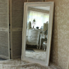 Extra Large White Wall Floor Ornate Mirror bedroom hall living room vintage home