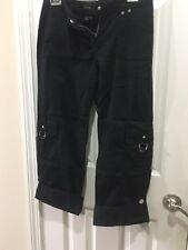 White House Black Market Size 2 Women's Cargo Pants Black MSRP: $78.00