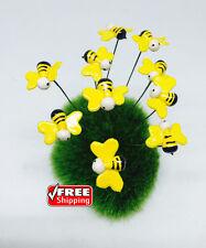 Miniature Dollhouse FAIRY GARDEN Accessories 10 Tiny Bees Picks.