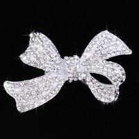 Diamante Crystal Rhinestone Bowknot Barrette Wedding Hair Clip Clamp Gift