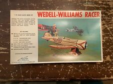 Vintage Williams Wedell-Williams Racer Airplane Model Kit