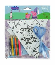 Peppa Pig Colour In Yourself Party Bunting Banner & Ribbon Crayons Set