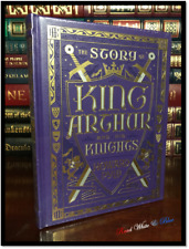 King Arthur New Sealed Illustrated Leather Bound Children's Gift Collectible