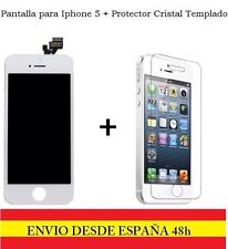 PANTALLA COMPLETA TACTIL LCD IPHONE 5 BLANCO DISPLAY+PROTECTOR CRISTAL TEMPLADO