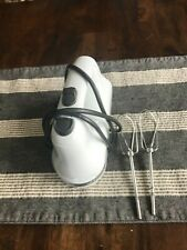 KITCHEN AID  5-Speed White Hand Mixer 2 Stainless Steel Beaters Swivel Cord