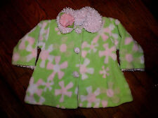 CORKY & COMPANY CUTE WARM COAT PINK GREEN SIZE 3 T 3T