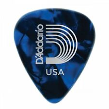D'Addario Blue Pearl Celluloid Guitar Picks Pack of 10 – Medium 1CBUP4-10
