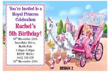 1 X Barbie Childrens Girls Birthday Personalised Invitations Invites Magnets