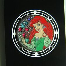 Ariel Princess Stained Glass Japan Little Mermaid Disney Pin Original Card TDR