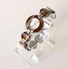 Esprit Damen Uhr Lagoon Tortoise hell braun silber Stahl Kunstharz ES106572002