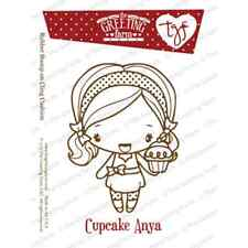 CUPCAKE ANYA-The Greeting Farm Cling Mount Rubber Stamp-Stamping Craft-RETIRED