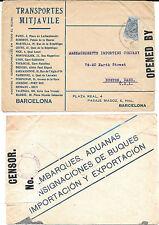 España. Sobre con sello de 25 cts Alfonso XIII y marca de la Censura
