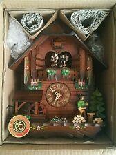"""New Black Forest SCHNEIDER 12"""" 1 DAY Chalet WOODCHOPPER CUCKOO CLOCK. MT 3405-10"""
