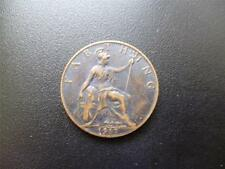 1917 FARTHING KING GEORGE THE FIFTH GOOD USED CONDITION, BRONZE.