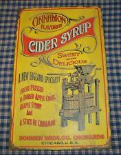 "Rustic Advertising Tin Sign ""Cidar Syrup"" Vintage Farmhouse Decor"