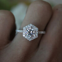 1 10 Carat (6mm) Moissanite Forever Classic Solitaire Ring