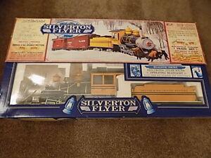 Bachmann Big Hauler Silverton Flyer G Scale Train Set Steam Locomotive + Cars