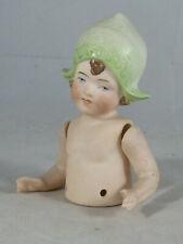 Teepuppe, Half-Doll, Mädchen mit Mütze, Porzellan