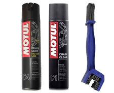 Kit pulisci lubrifica catena Motul C4 400ml + C1 400ml + SPAZZOLA PULIZIA CATENA