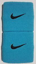 "Nike Swoosh Wristbands 3"" Omega Blue/Black Mens Women's Osfm"