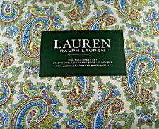 Ralph Lauren 4 Pc. Full Size Paisley Floral  Sheet Set 100% Cotton Multi Color