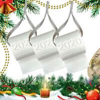 Weihnachtsbaum Ornament 2020 Weihnachtsmann Toilettenpapier hängen Anhänger Deko
